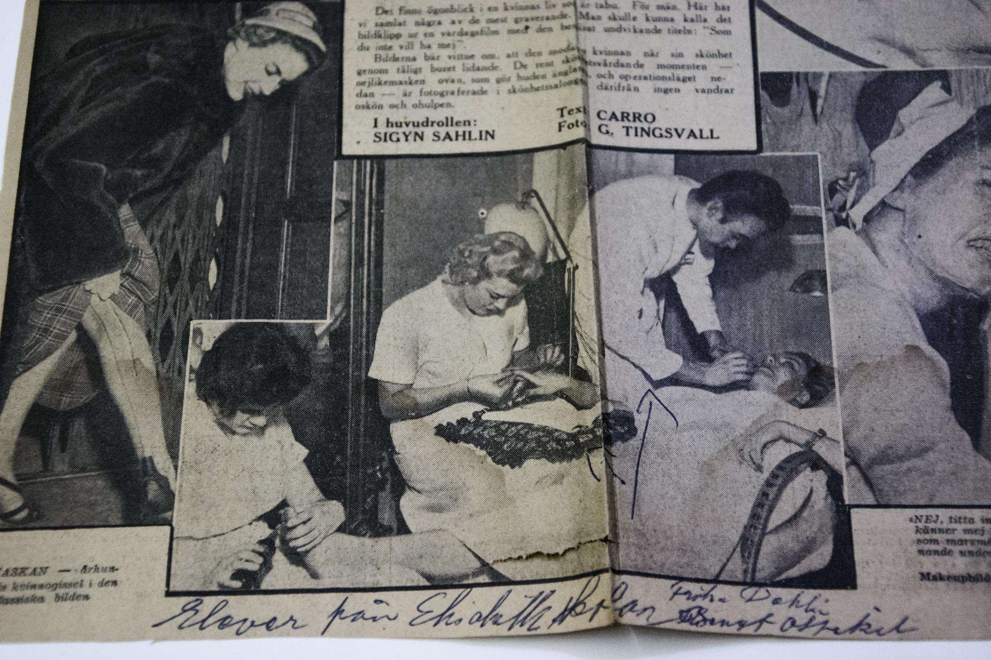 Tidningsurklipp om eleverna